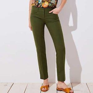NWT LOFT Green Petite Curvy Riviera Pants